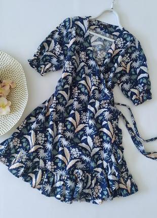 Льняное платье на запах next