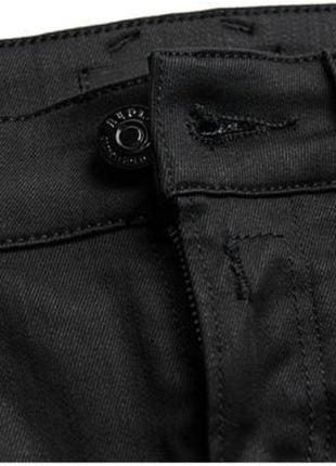 Крутые люксовые оригинальные байкерские джинсы с пропиткой и молниями replay 1+1=3 на всё 🎁5 фото