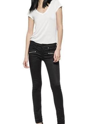 Крутые люксовые оригинальные байкерские джинсы с пропиткой и молниями replay 1+1=3 на всё 🎁