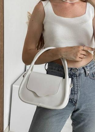 Интересный клатч белый клатч белая сумка актуальной формы