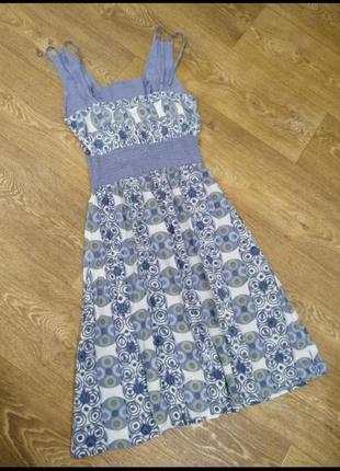 Легкое натуральное платье сарафан2 фото