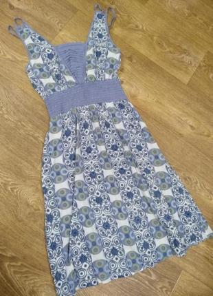 Легкое натуральное платье сарафан1 фото