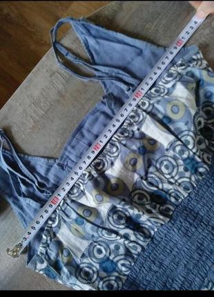 Легкое натуральное платье сарафан5 фото
