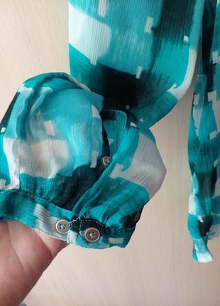 Блуза  esprit шифон очень приятная и легкая размер eu16 наш 525 фото