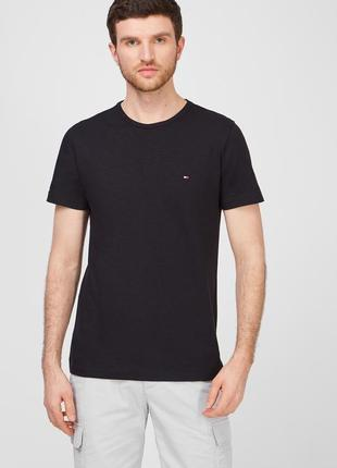Tommy hilfiger мужская черная футболка
