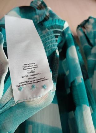Блуза  esprit шифон очень приятная и легкая размер eu16 наш 529 фото