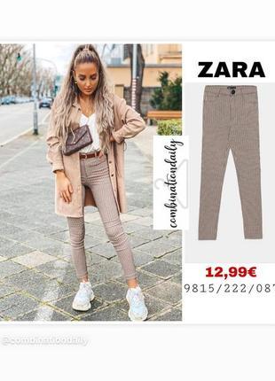Zara леггинсы лосины под брюки гусиная лапка