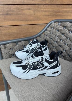 Новые женские кроссовки new balance 530 white black чёрные белые ньюбелансы которые носят стилисты
