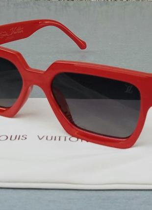 Louis vuitton стильные женские солнцезащитные очки красные с градиентом