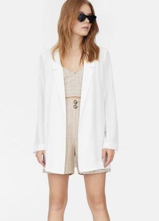 Пиджак летний белый