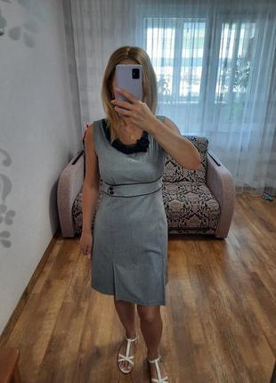 Платье сарафан с серебристым люрексом.