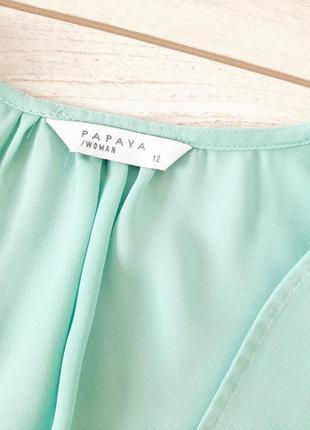 Летняя легкая блуза с оборкой_цвет тиффани3 фото