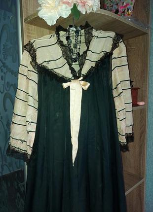 Пеньюар винтажный, халат шифон размер s ,м ,l
