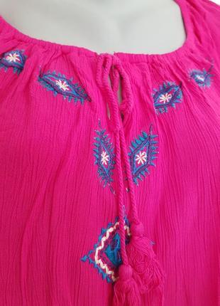Красивая лёгкая блузочка с вышивкой angel of style5 фото