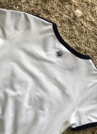 Белая майка поло тенниска футболка lacoste roland garros оригинал7 фото