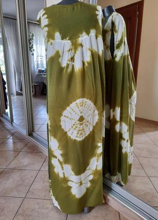 Комфортное с вышивкой платье 👗большого размера2 фото