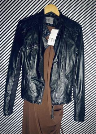 Кожаная куртка косуха натуральная кожа5 фото