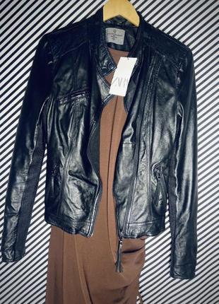 Кожаная куртка косуха натуральная кожа4 фото
