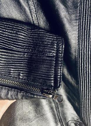 Кожаная куртка косуха натуральная кожа8 фото