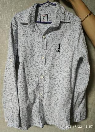 Брендовая рубашка на мальчика 9 лет
