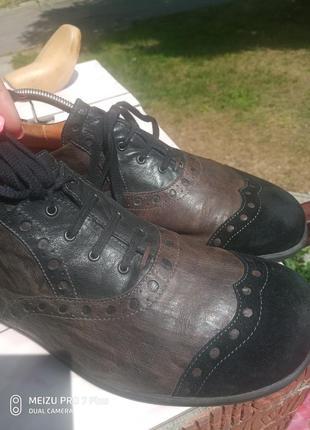 Обалденные кожаные туфли think! 45-465 фото