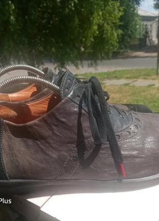 Обалденные кожаные туфли think! 45-467 фото