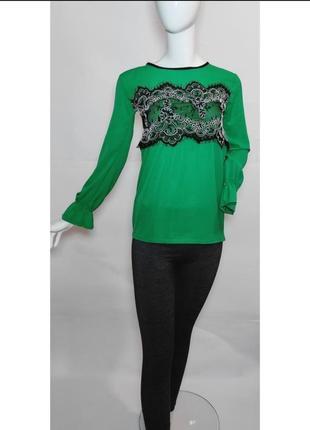 Зелёная блузка new style italy.