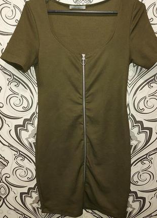 Платье в рубчик zara