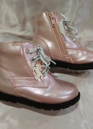 Нежные ботиночки от george с единорожкой деми ботинки