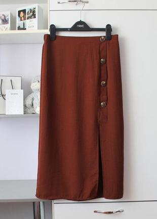 Миди юбка с пуговицами на резинке от george