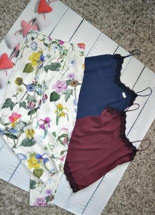 Актуальные штаны брюки в цветочный принт вискоза zara m