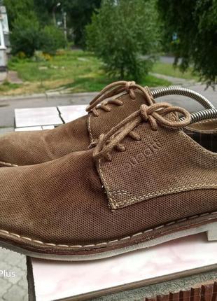 Шикарные кожаные туфли премиум класса bugatti 45-46