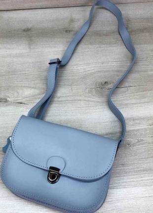 Модная сумочка женская на пояс поясная сумка клатч aliri-t60-03 голубая