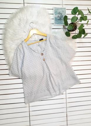 Серая блуза блузка в горох хлопок luca vanucci италия p. xl