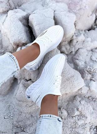 Кроссовки кеды текстиль белый