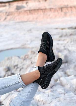 Кроссовки кеды текстиль черный