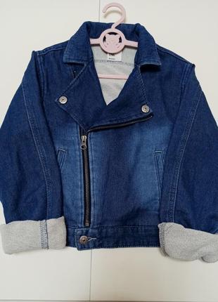 Джинсовая куртка h&m & denim , джинсовка на девочку