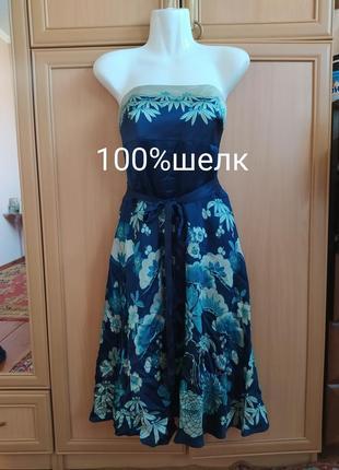 Платье 100%шелк, шелковое плать1 фото