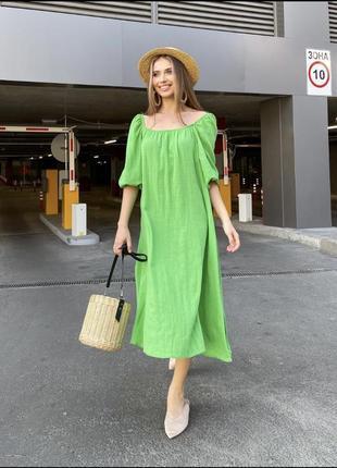Платье льняное 2цвета