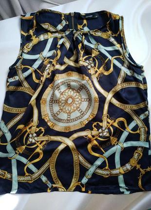 Супер маечка шелк в стиле versace