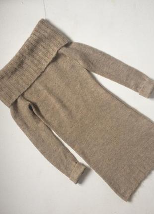 Тепле плаття-трансформер  з мохером та відкритими плечима