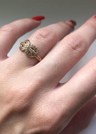 Кольцо(18р) - медицинское золото