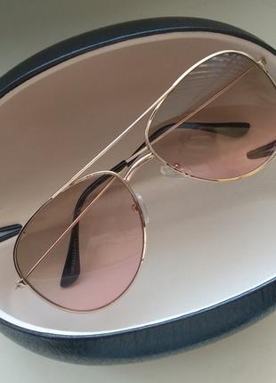 Солнцезащитные очки капли имидживые для стиля градиент твердый чехол для очков черный
