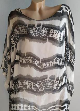 Туника, блуза-майка из 100% натурального шелка.