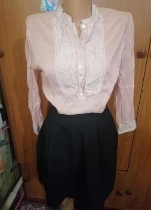 Блузка юбка костюм комплект школьная форма