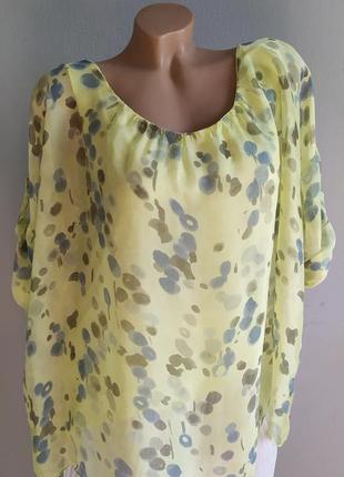 Туника, блуза-майка с натуральным шелком