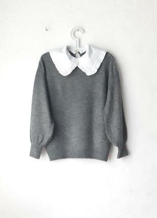 Классный свитерок с воротником