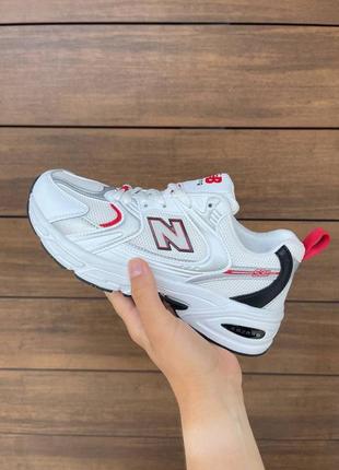 New balance 530🆕легкие дашащие кроссовки в сетку нью баланс 530🆕белые с красным