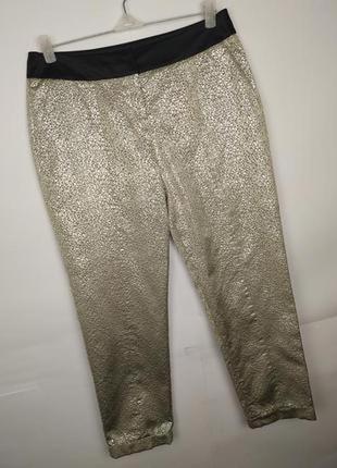Штаны брюки серебристые стильные парча karen millen uk 12/40/m