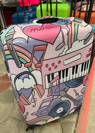"""Чехол на чемодан """" музыка"""""""